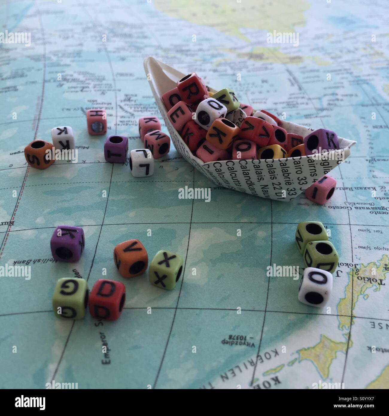 Lost at sea - Stock Image