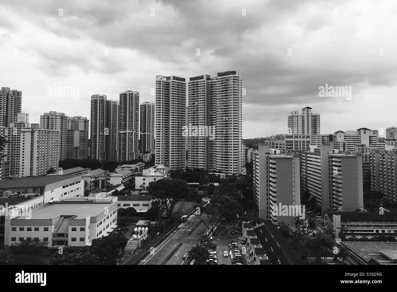 Singapore public housing - Stock Image
