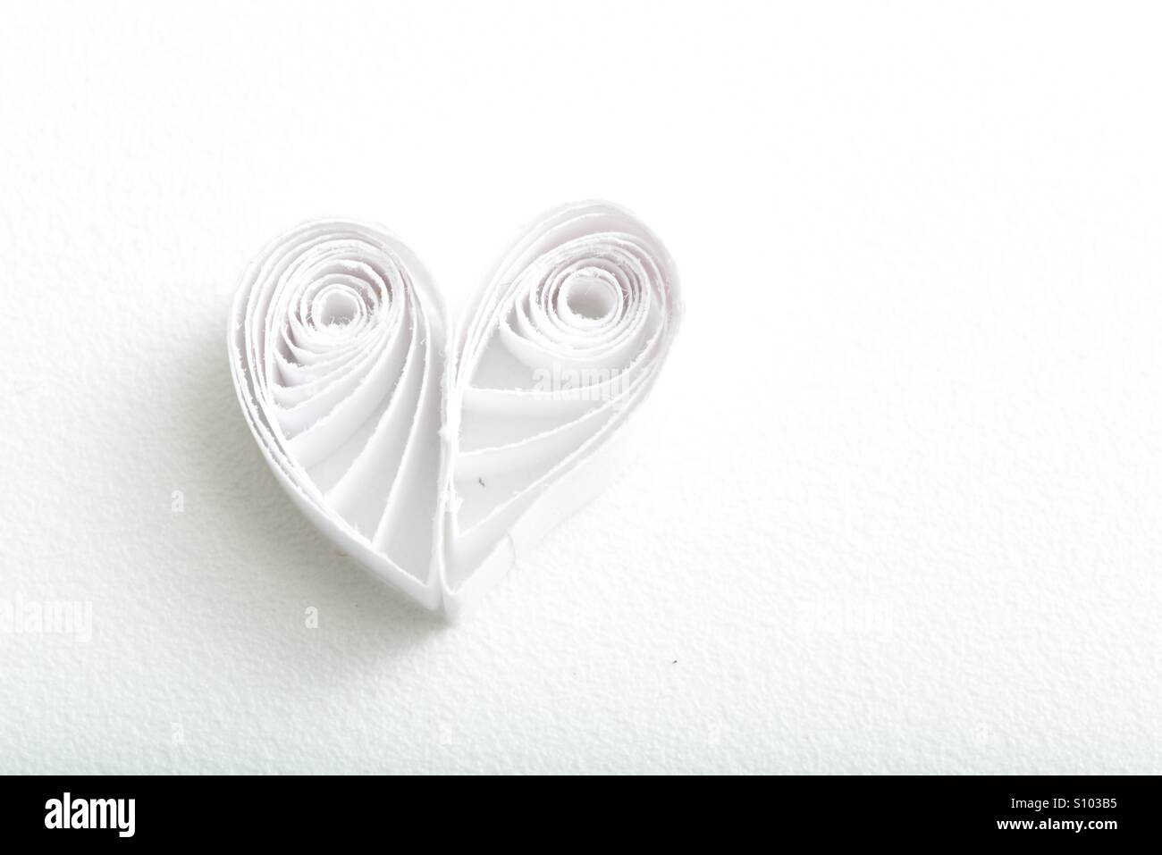 White paper heart Stock Photo