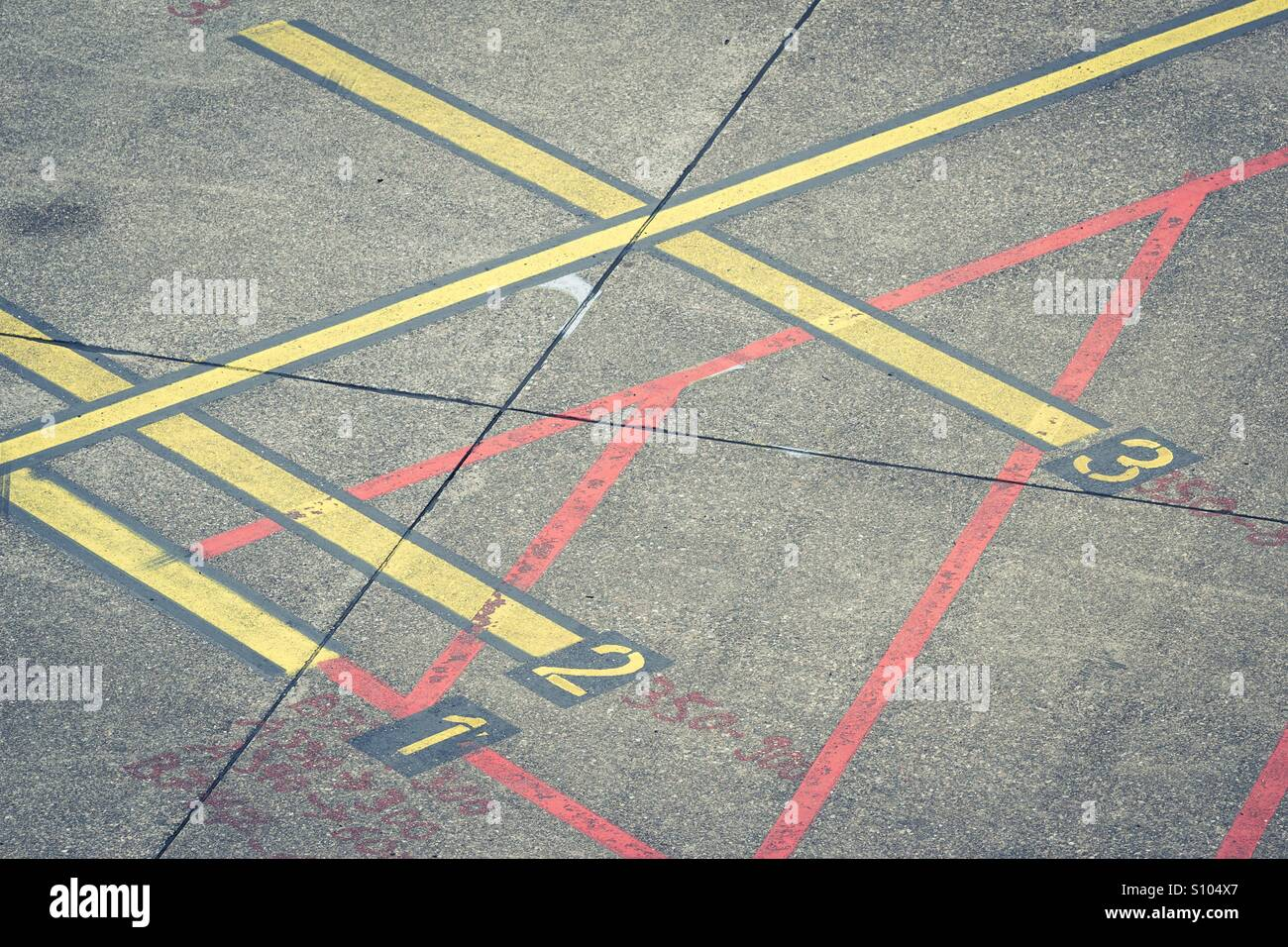 Markings on airport apron Stock Photo: 310405151 - Alamy