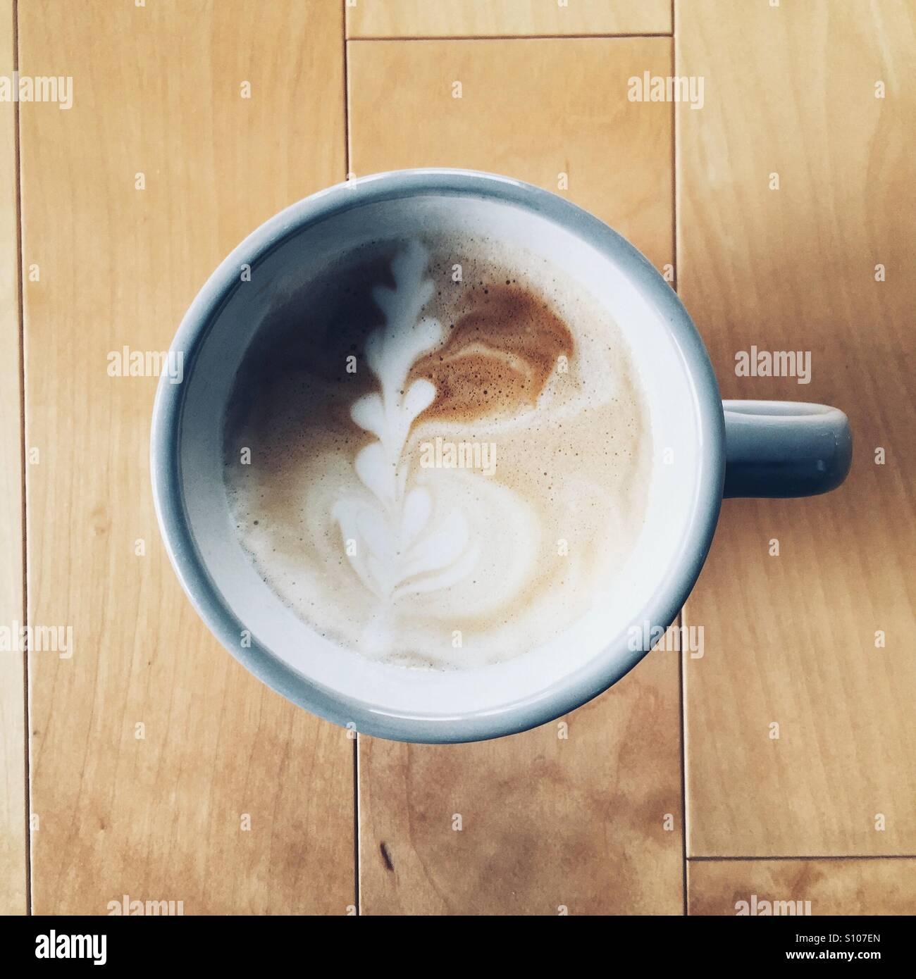 Cup of Latte - Stock Image