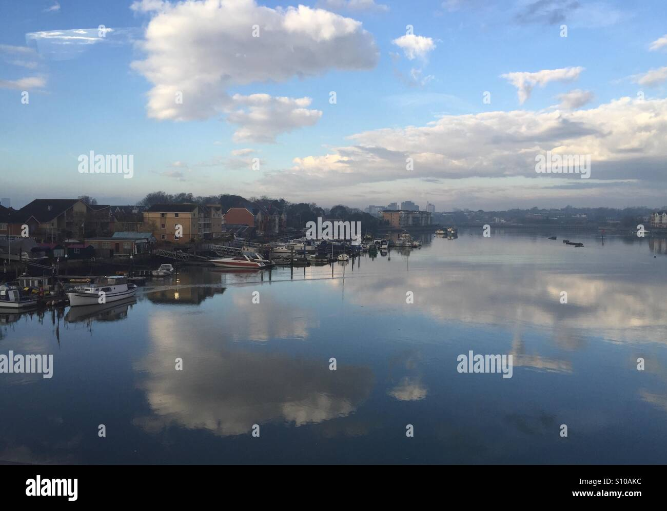 Crossing the river Itchen, Southampton. Hampshire, England - Stock Image