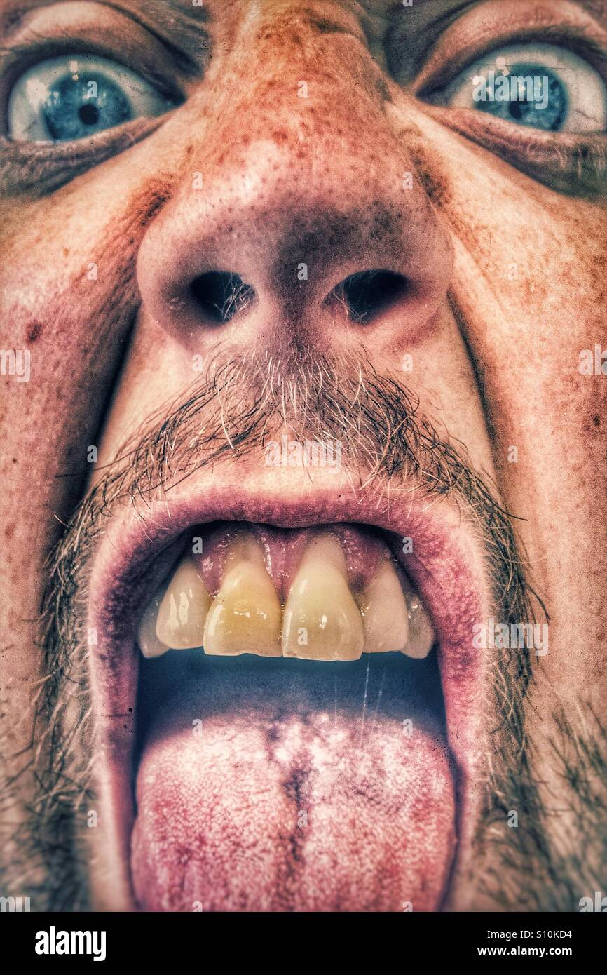 Ugly selfy - Stock Image