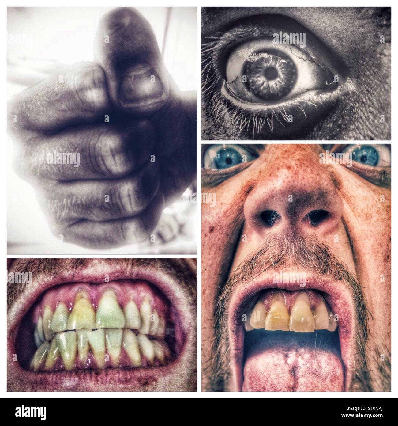 Anger compilation - Stock Image