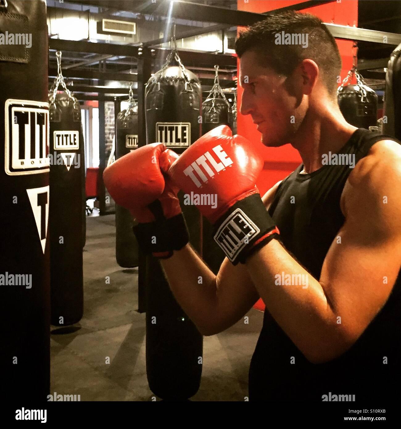 Kickboxing class - Stock Image