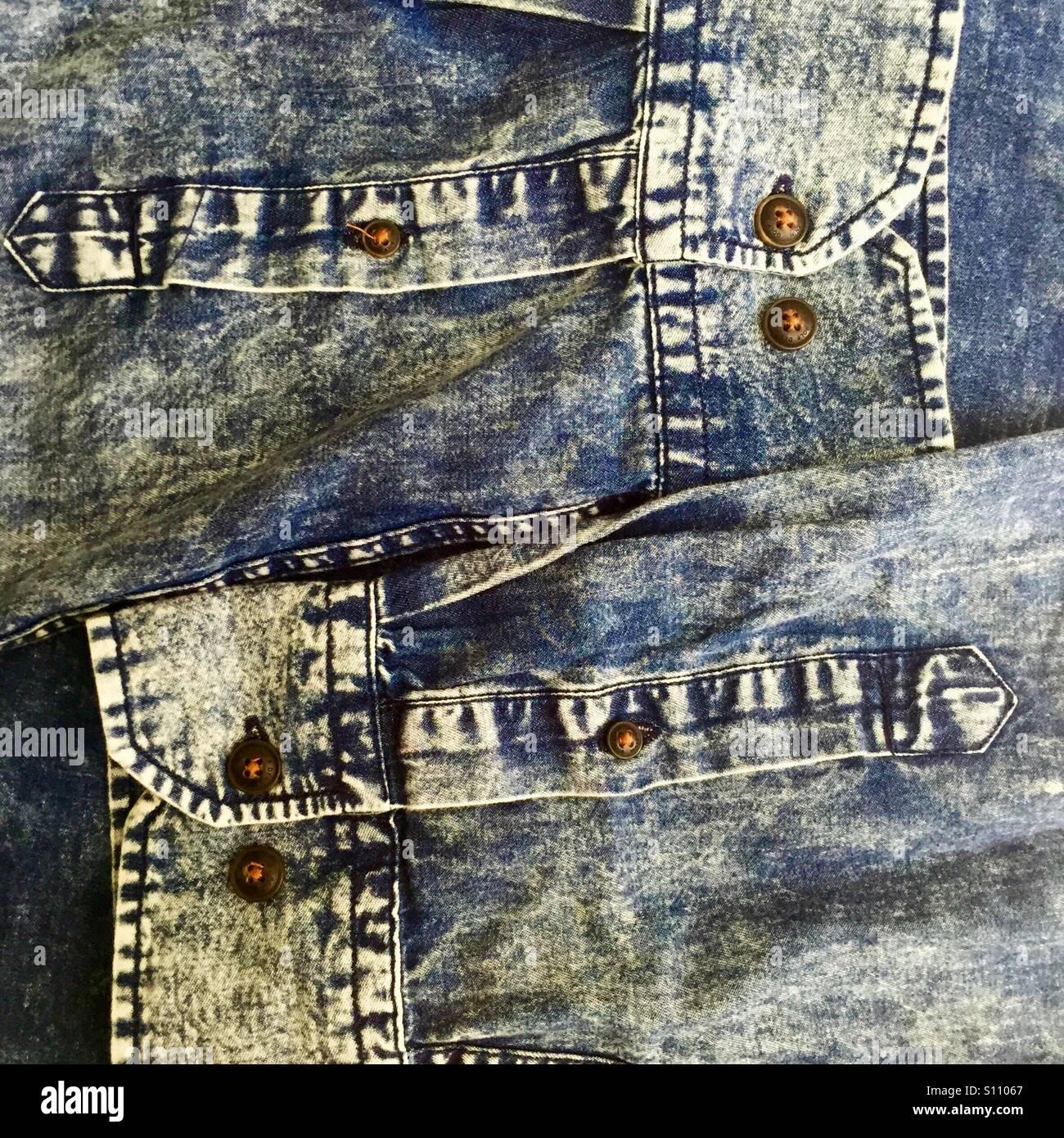 Denim shirt - Stock Image