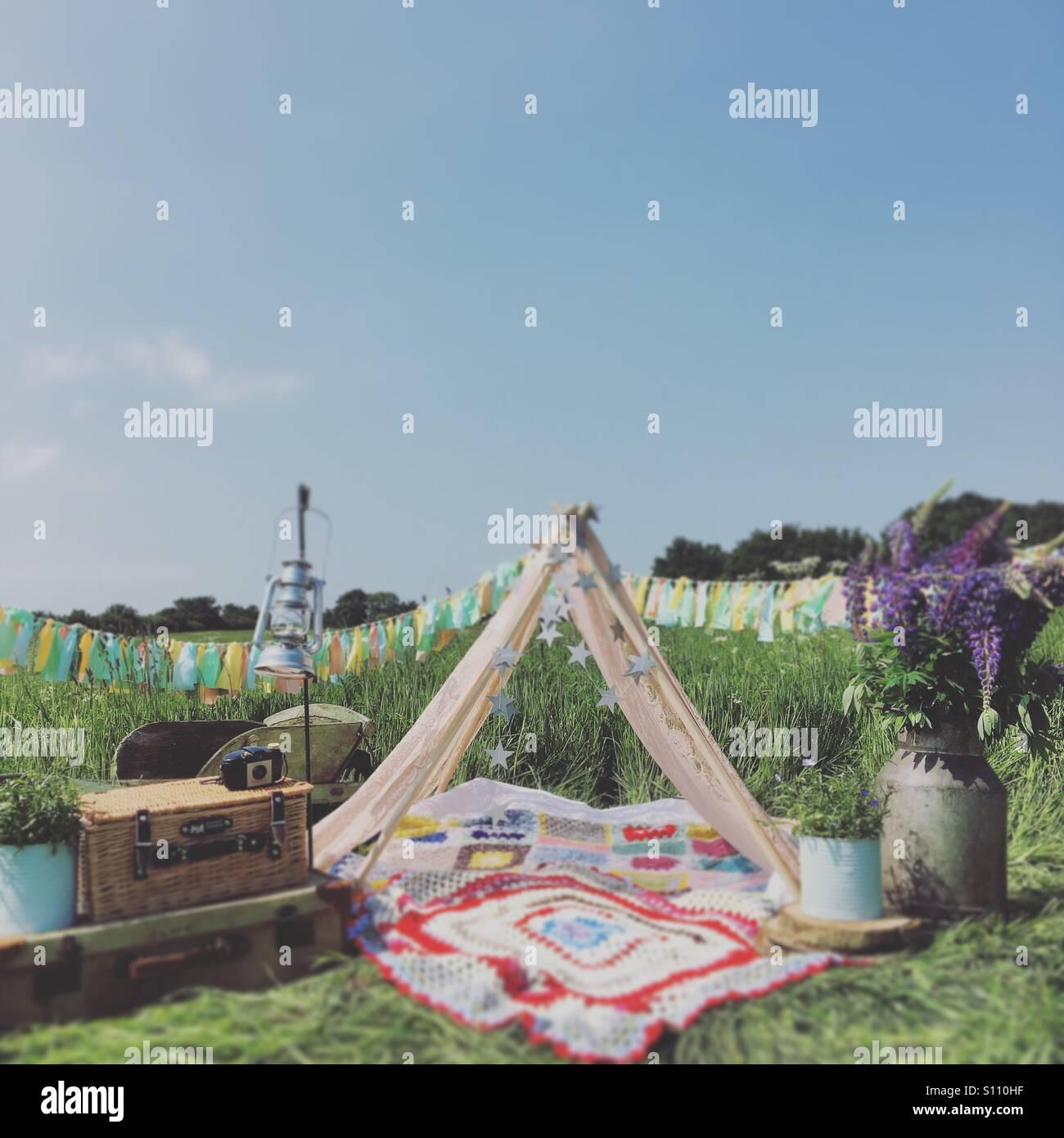 Sleeping under the stars tonight - Stock Image