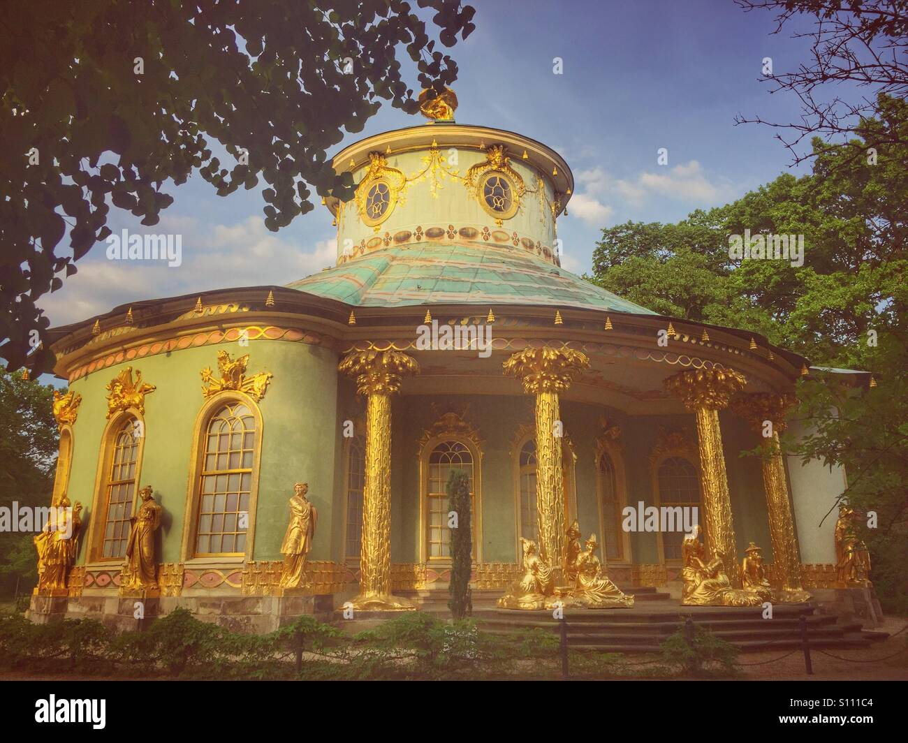Chinese house at Sanssouci palace Potsdam Germany - Stock Image