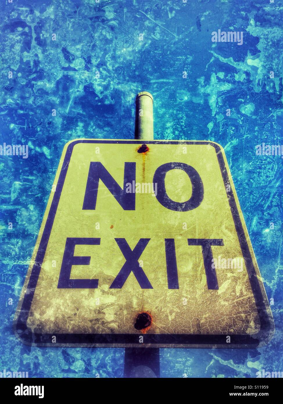 No exit sign. - Stock Image