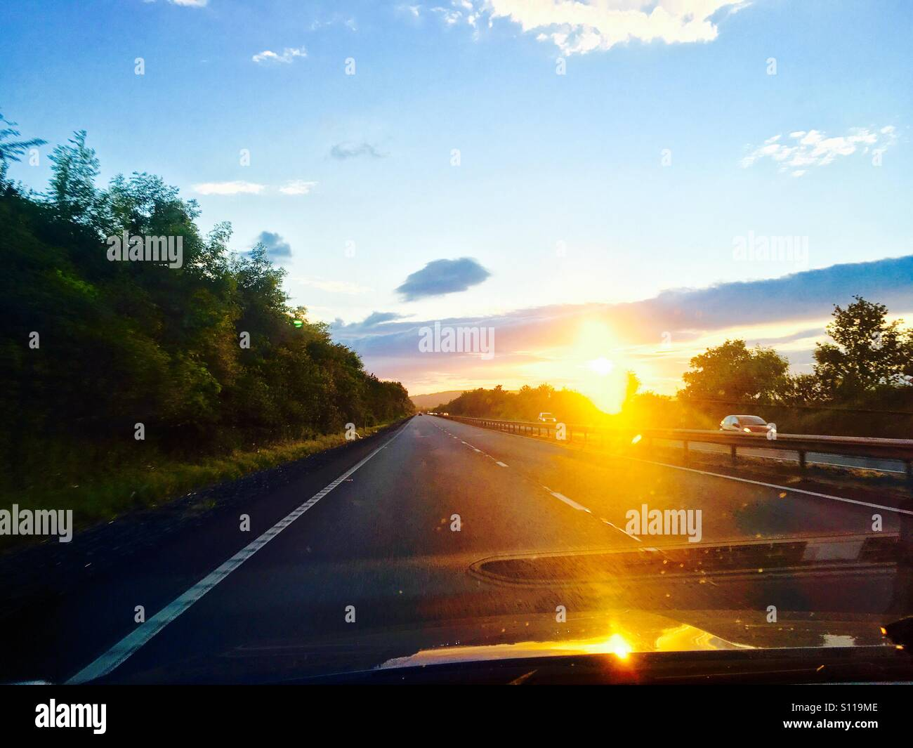 The summer open road - Stock Image