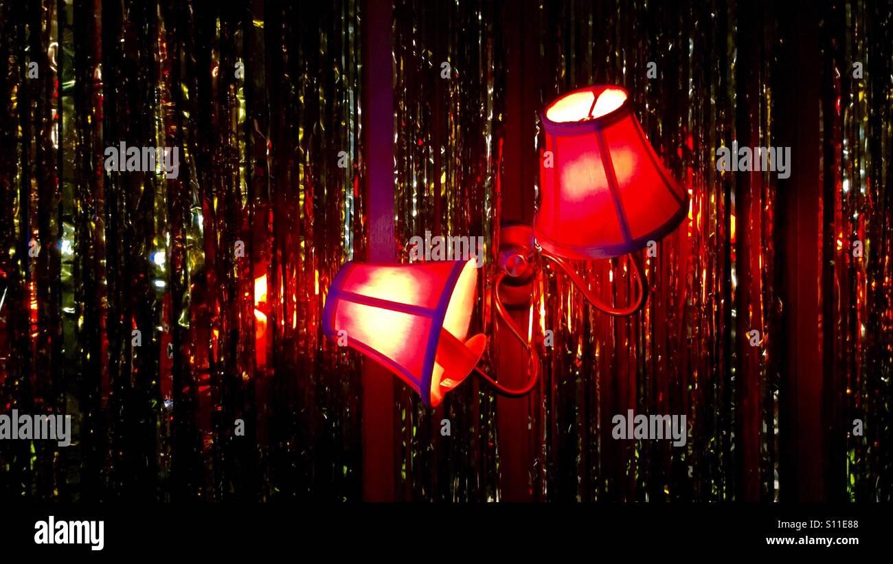 Wonky lights - Stock Image