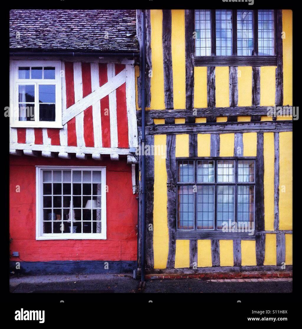 Timber framed Tudor buildings in Lavenham, Suffolk. - Stock Image
