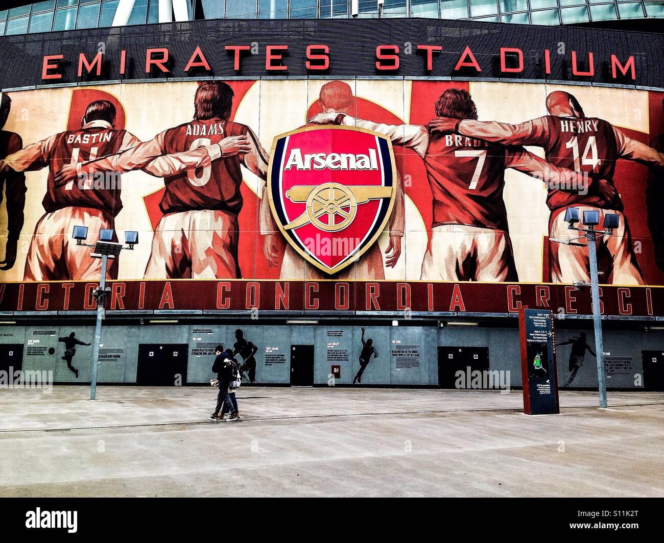 Arsenal's Emirates stadium, London - Stock Image