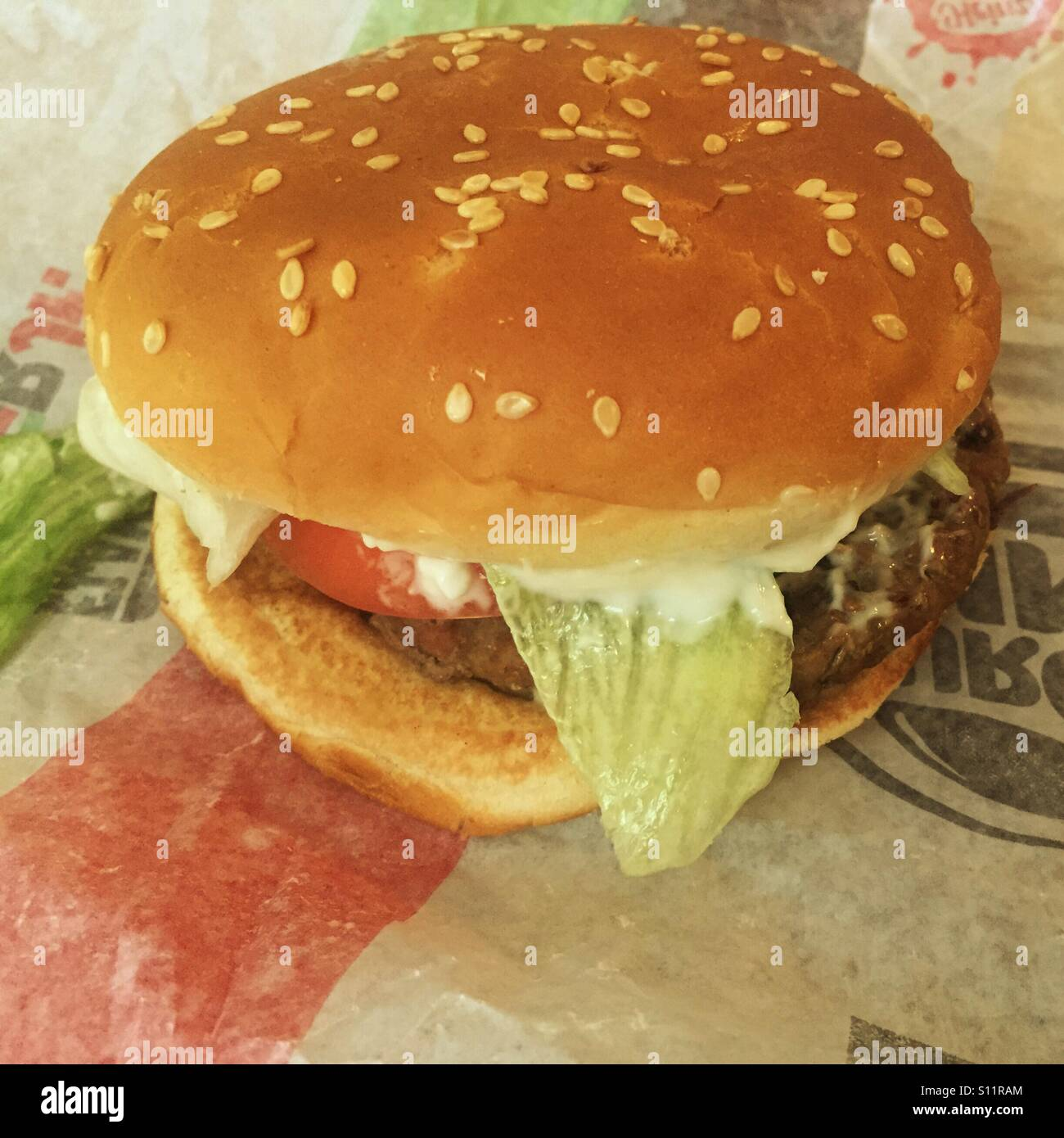 Burger King Whopper Jr Stock Photo: 310441564 - Alamy