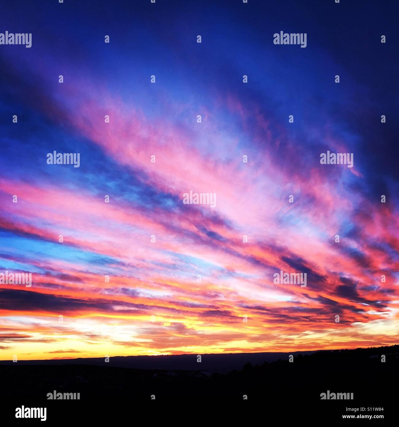 Skies of Gunnison National Park - Stock Image