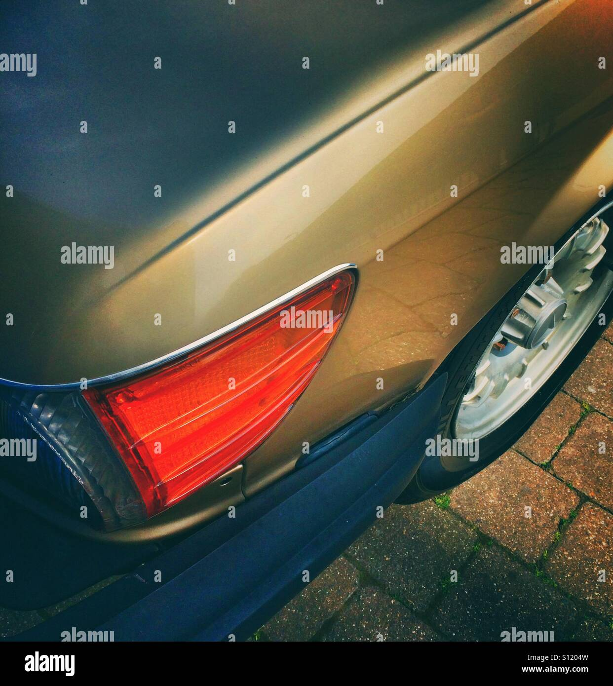The rear light of a car - Stock Image