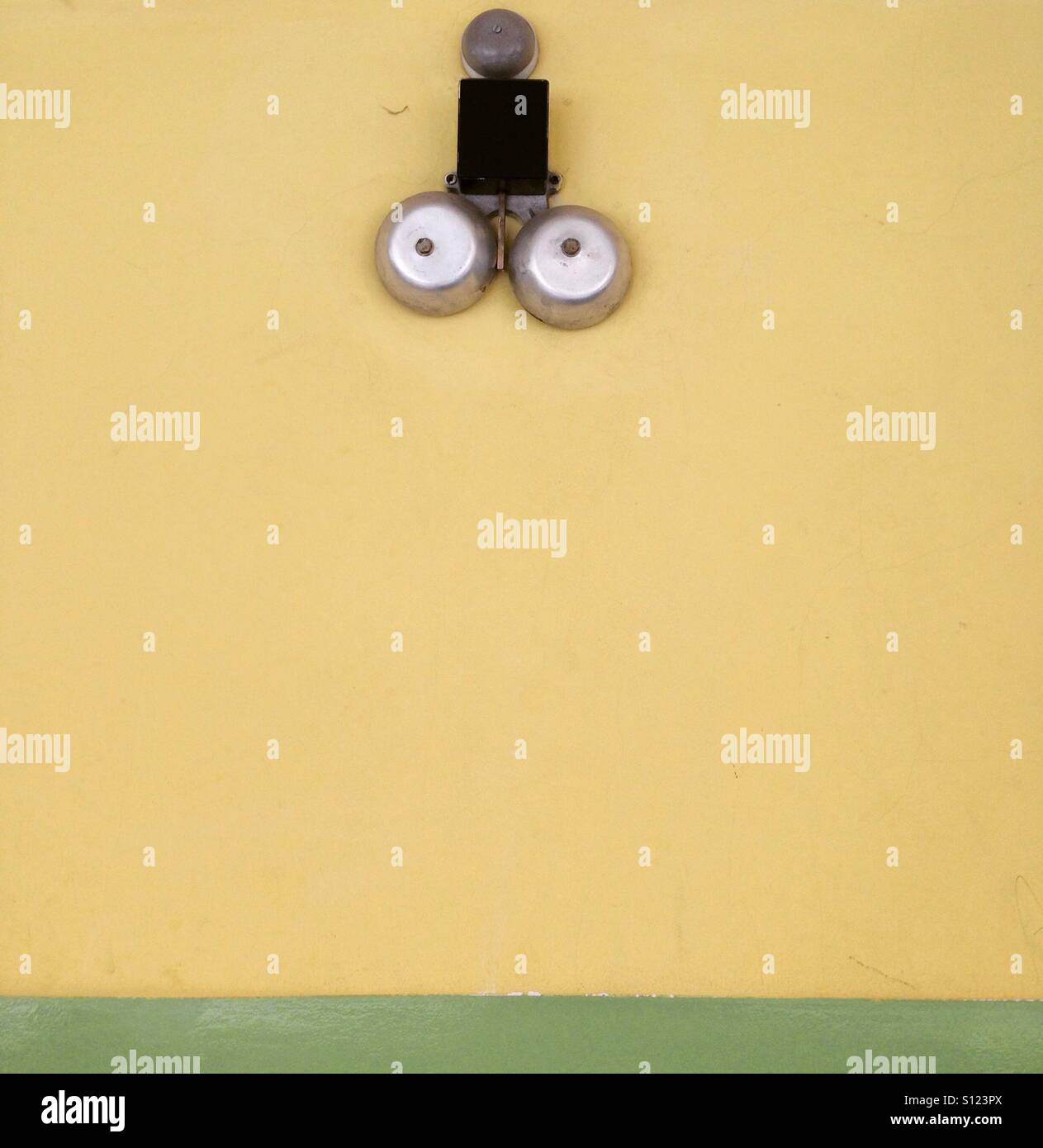 Extraordinary design. School bell - Stock Image