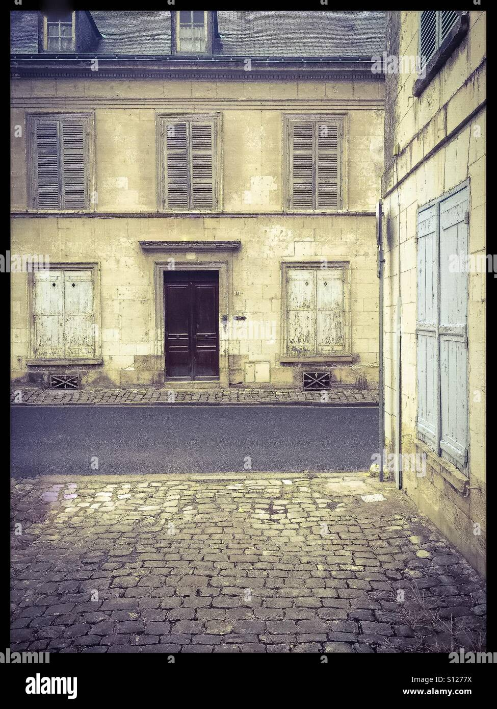 Old French houses. - Stock Image