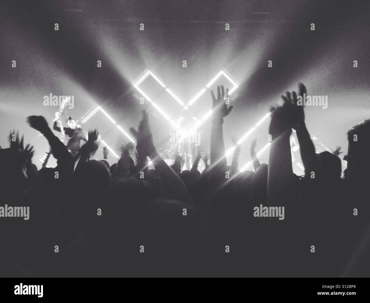 Metric in concert - Stock Image