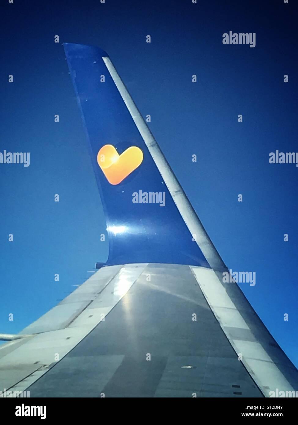 Thomas Cook Boeing 767 Winglet - Stock Image