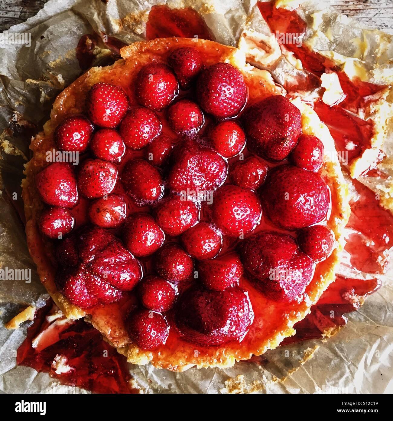 Strawberry Cheesecake - Stock Image