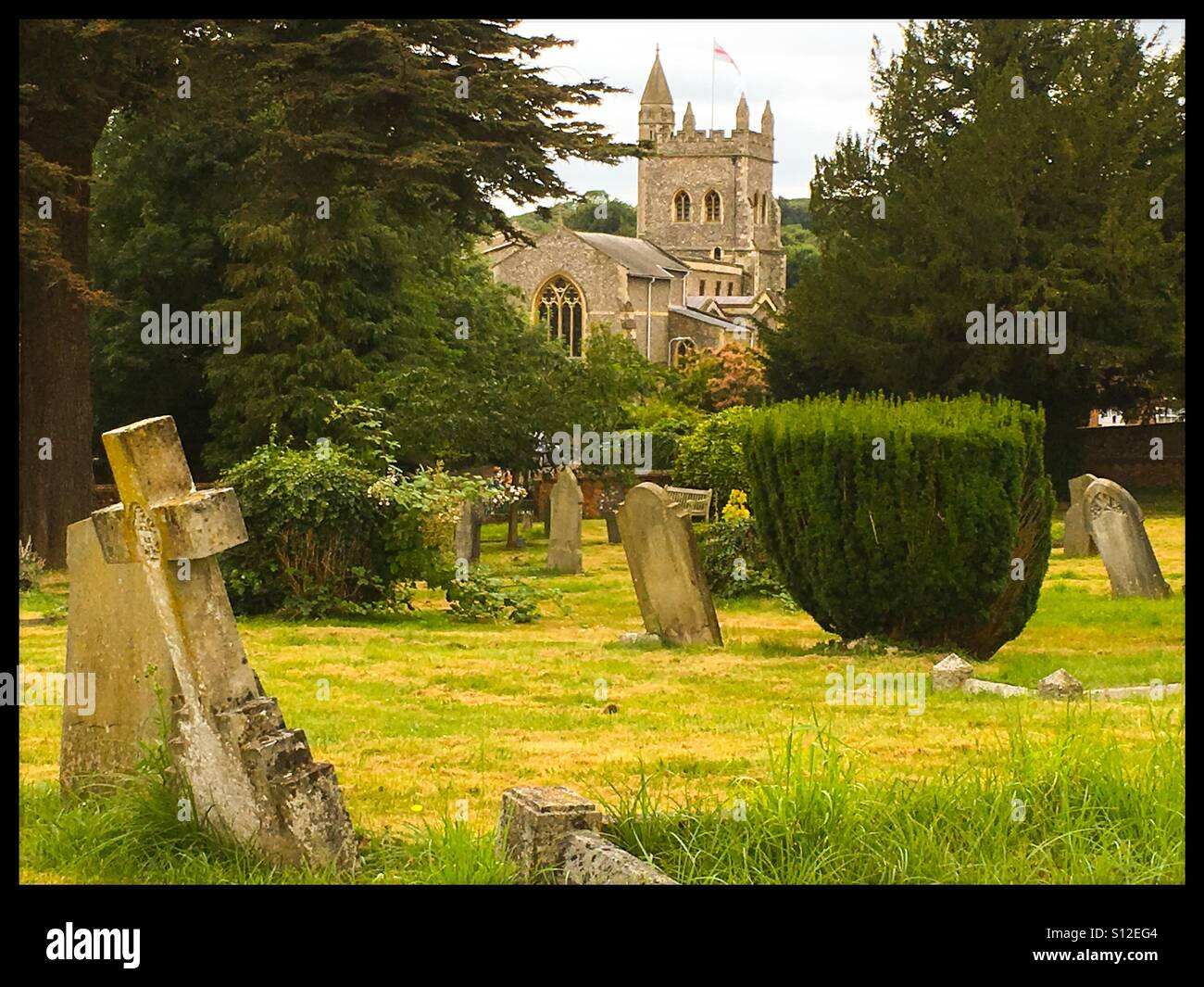 Church in Old Amersham, England. - Stock Image