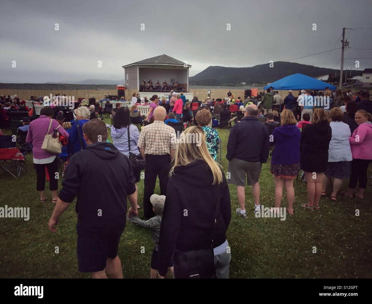 Southern Shore Shamrock Folk Festival in Ferryland, Newfoundland, Canada. - Stock Image