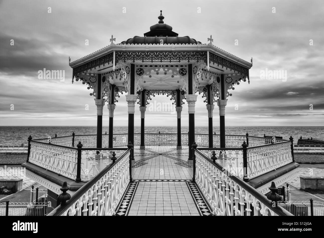 Brighton Bandstand Monochrome - Stock Image