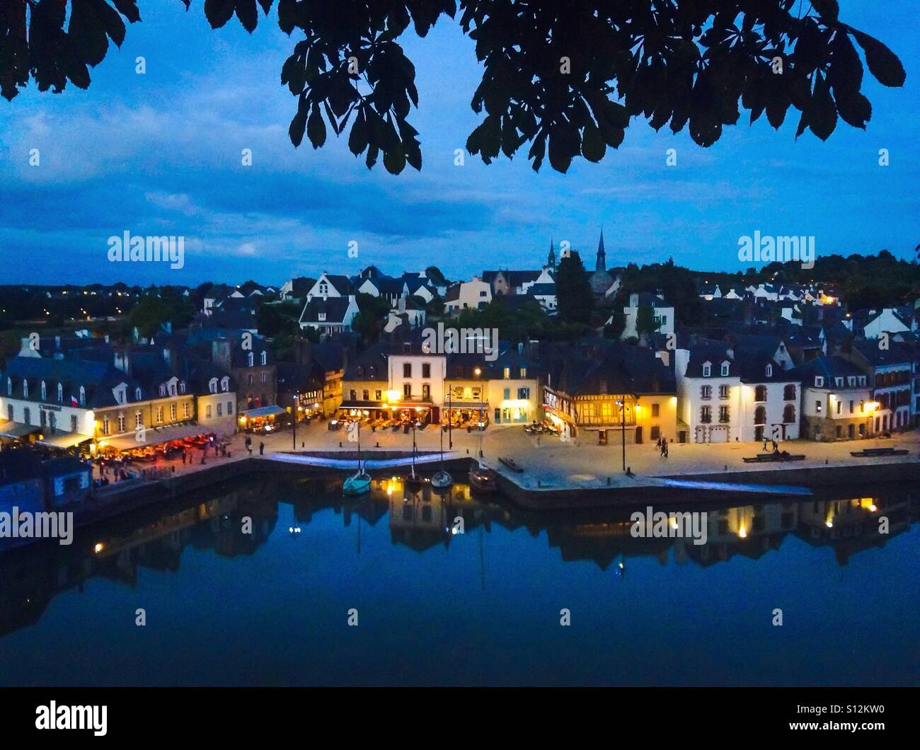 Auray, Brittany, France. Port de Saint Gostan, Gulf of Morbihan Stock Photo
