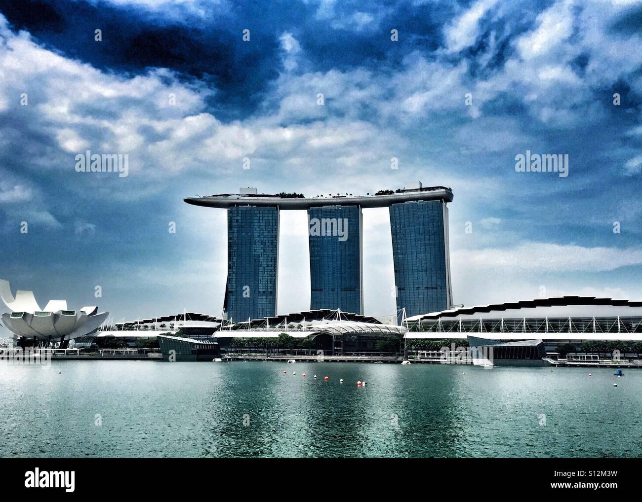 Marina bay sands Singapore - Stock Image