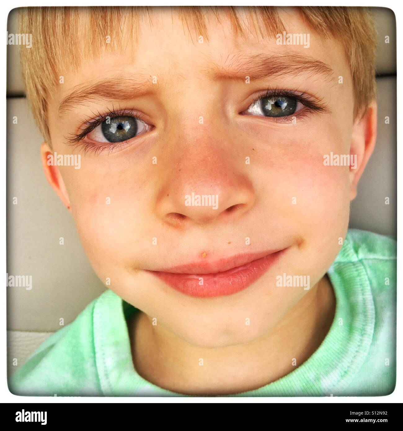 Young boys face - Stock Image
