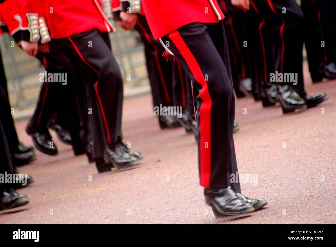 Marching guardsmen - Stock Image