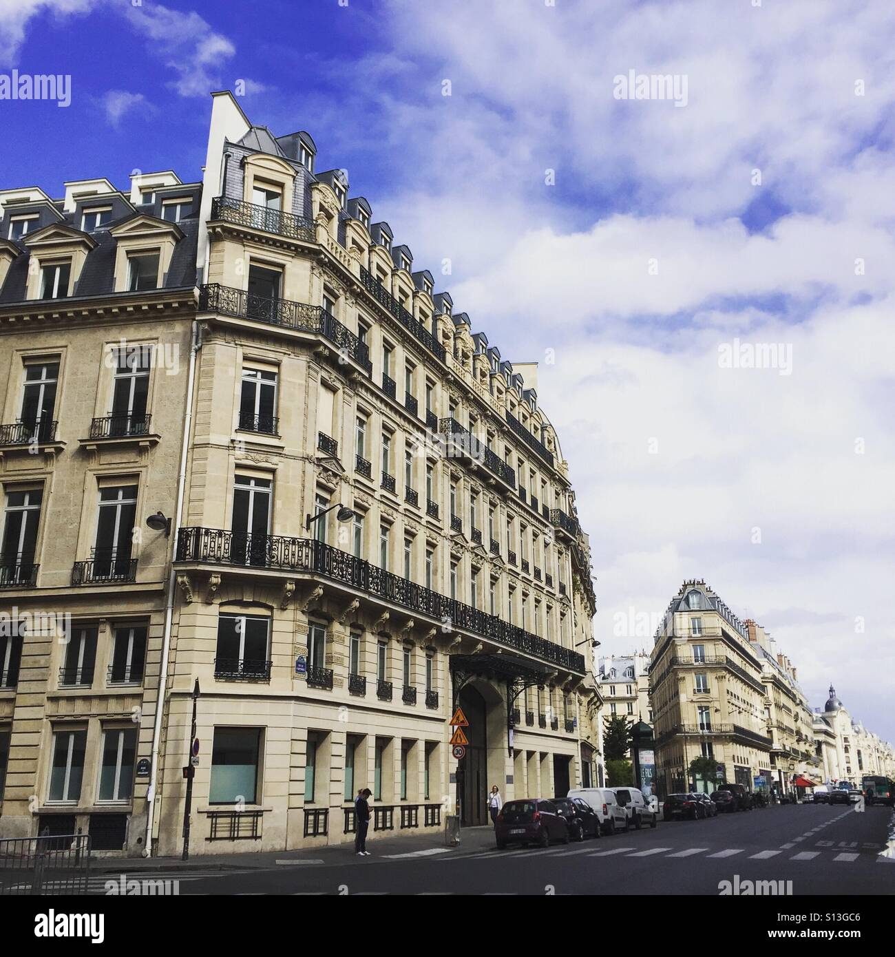 Street scene Paris France - Stock Image