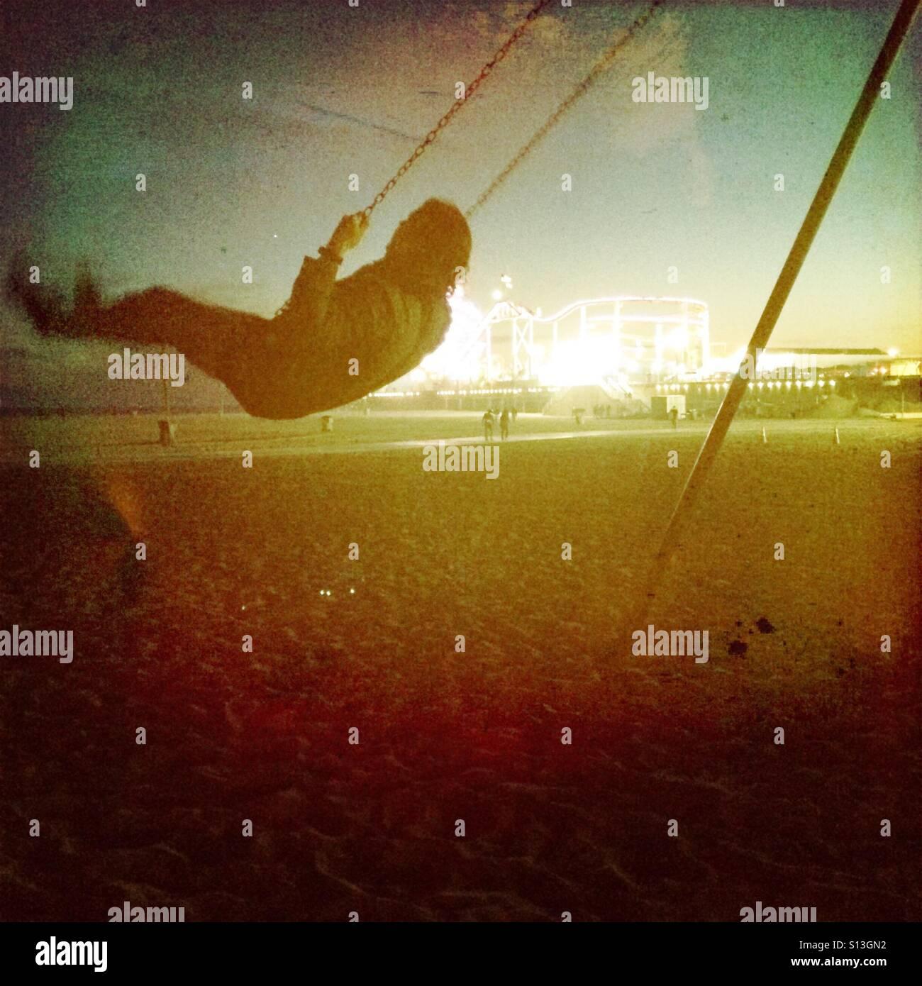 Swinging action shot - Stock Image
