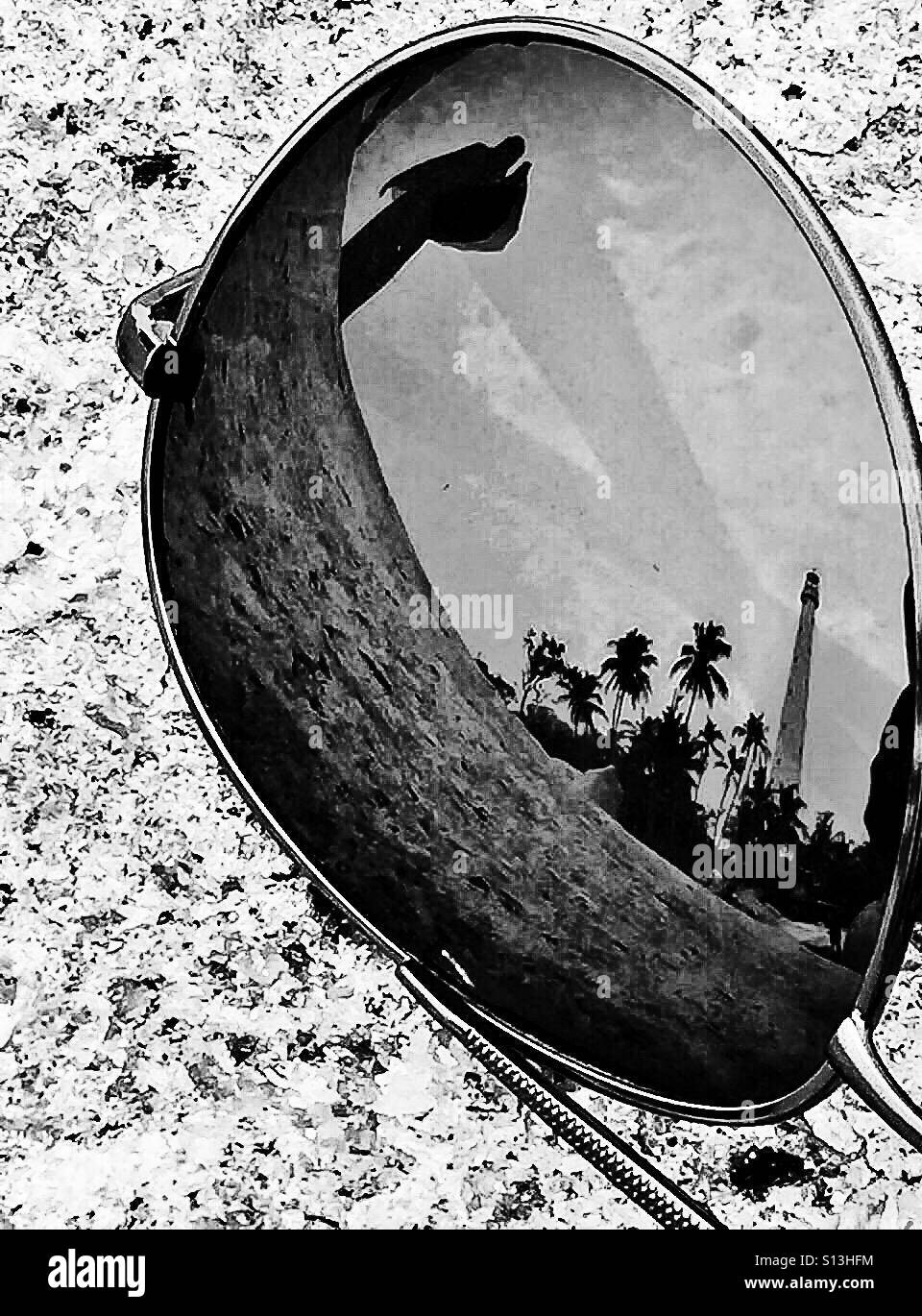 Reflection in bw Stock Photo