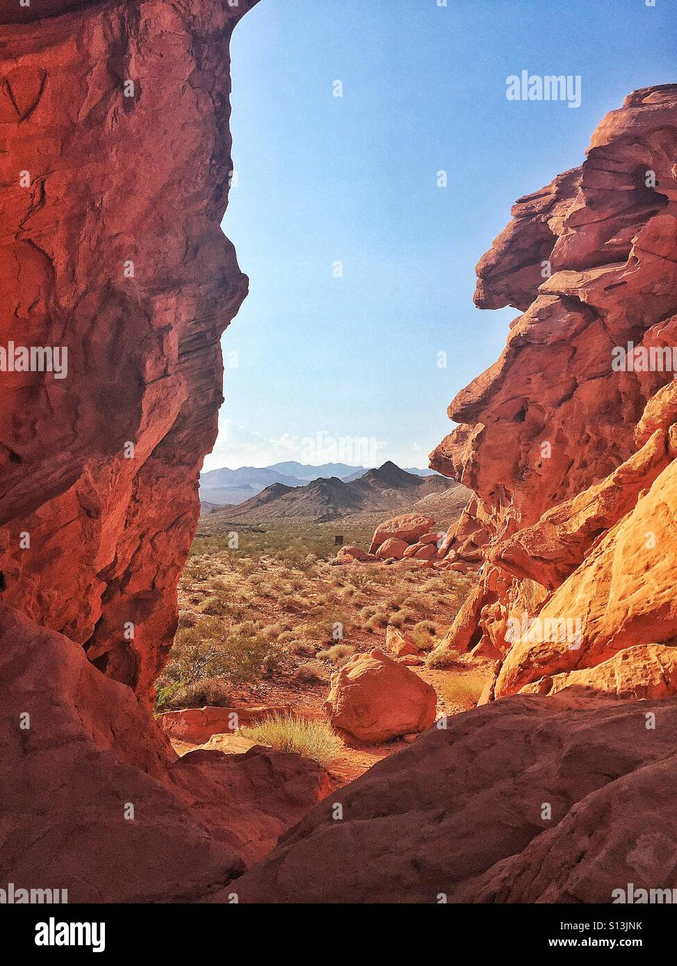 Red rocks - Stock Image