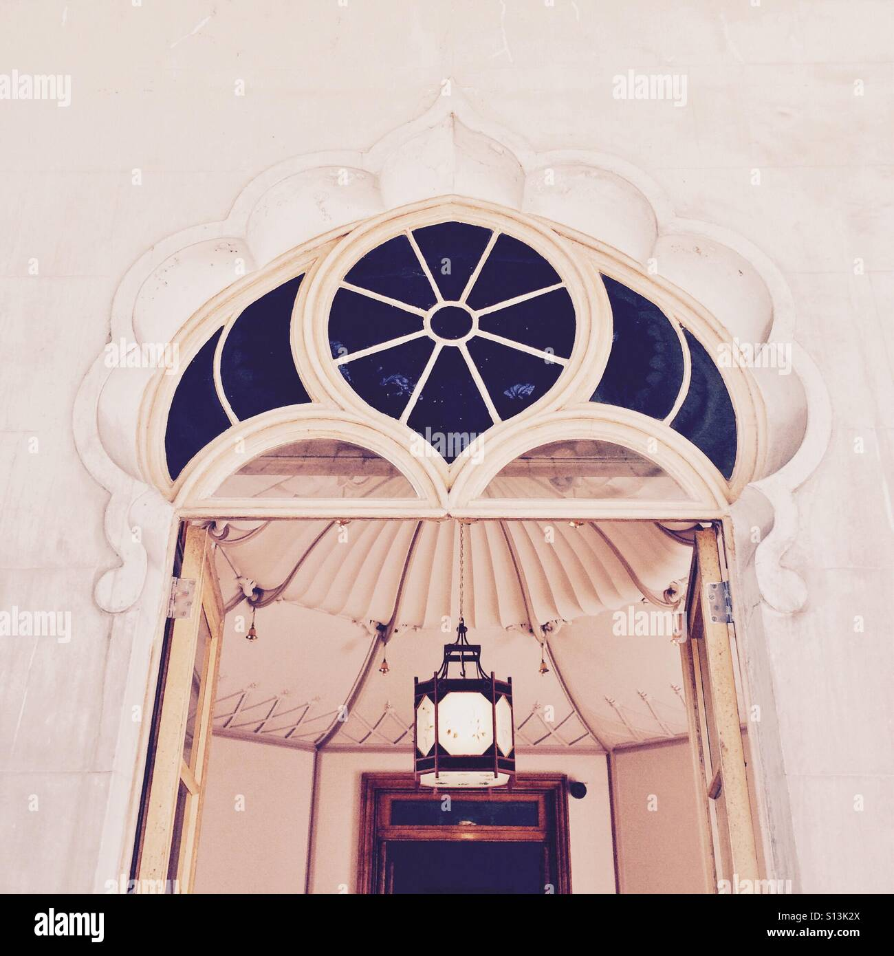 The entrance to the Brighton Pavillion in Brighton Sussex England UK - Stock Image