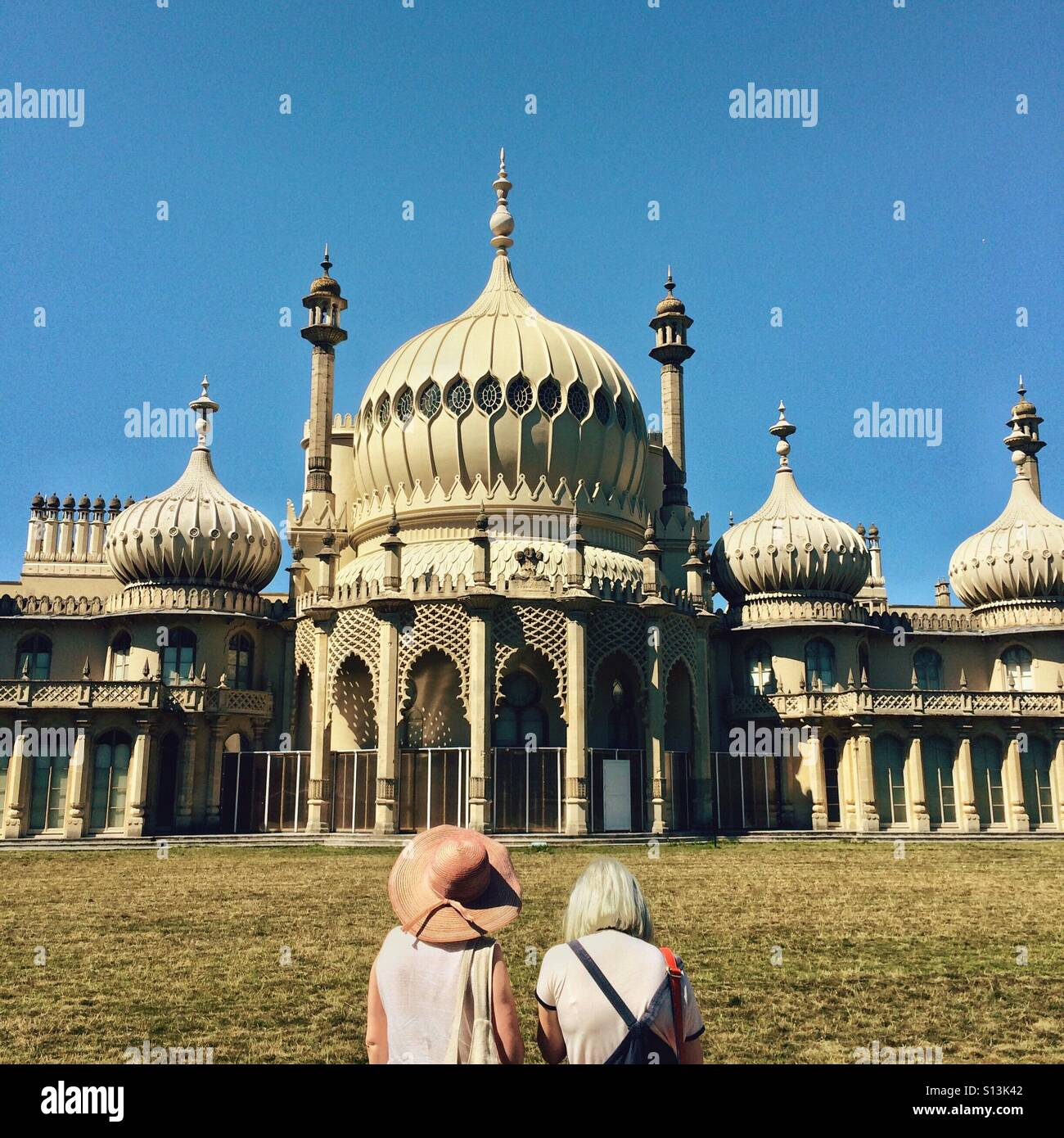 Sightseeing at the Brighton Pavillion in Brighton Sussex England UK - Stock Image