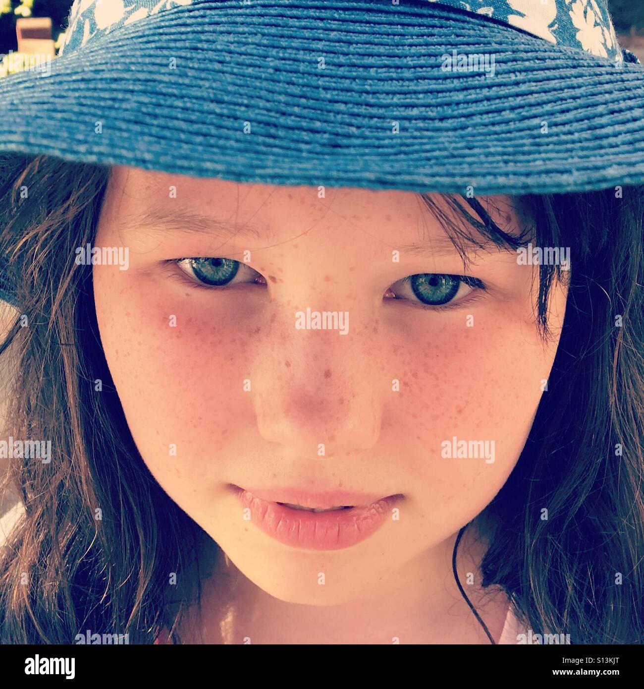 Ole blue eyes - Stock Image