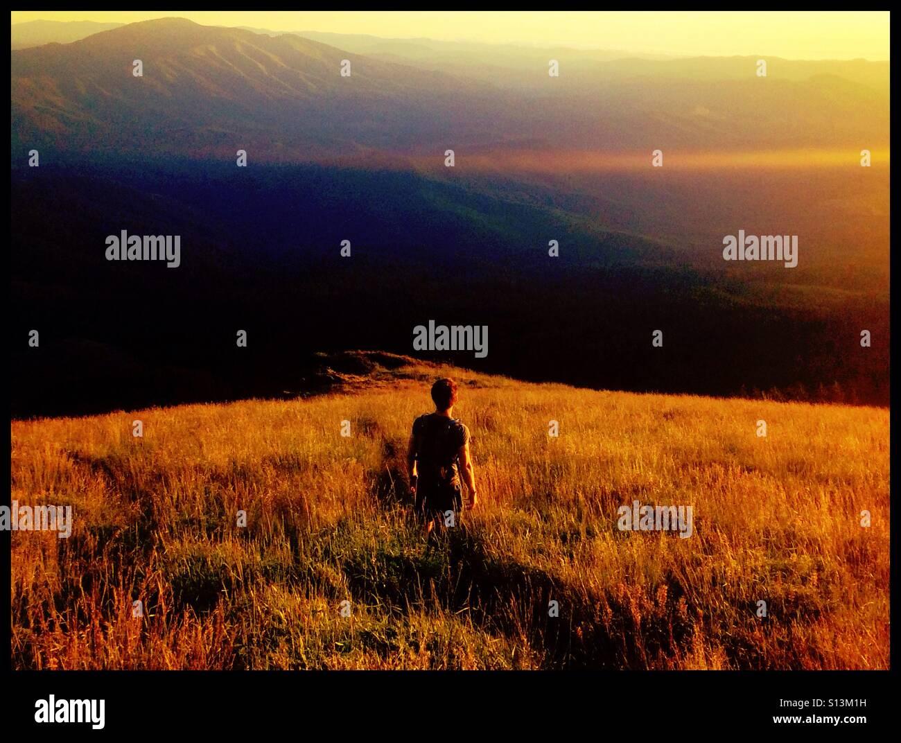 Mary's Peak summit Stock Photo