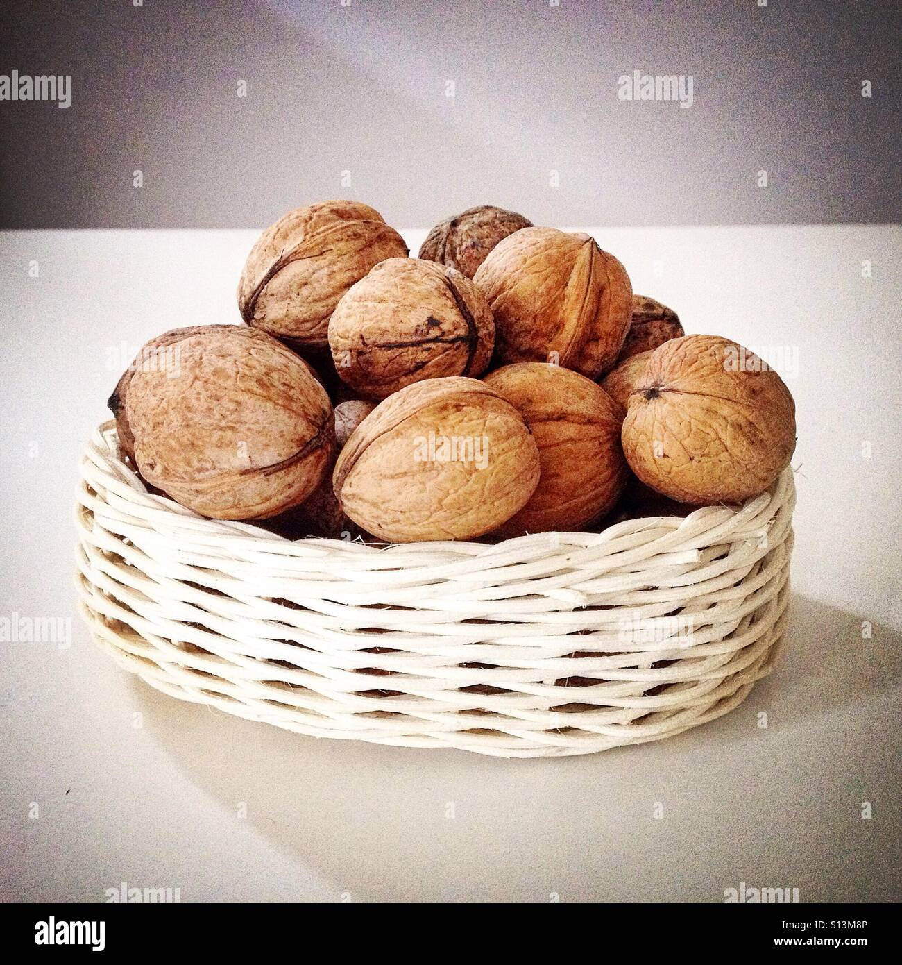 Walnuts on the table - Stock Image