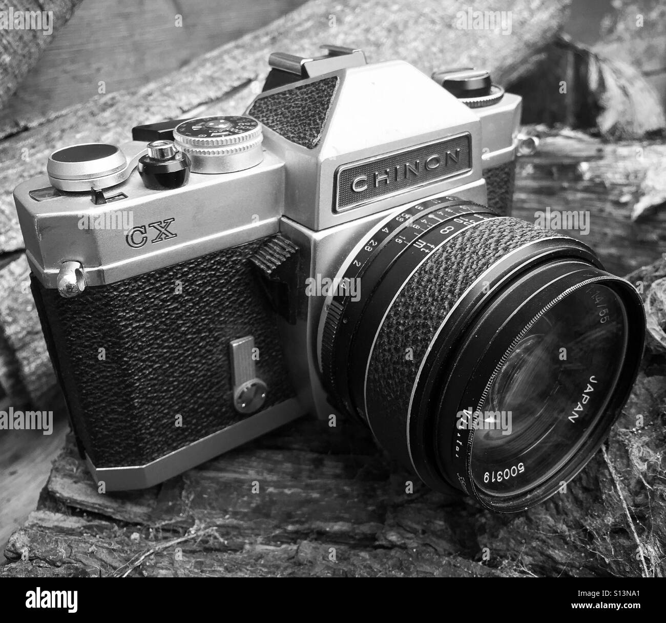 1970s manual film camera, analogue photography - Stock Image