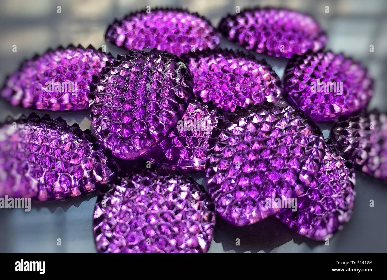 Purple jewel - Stock Image