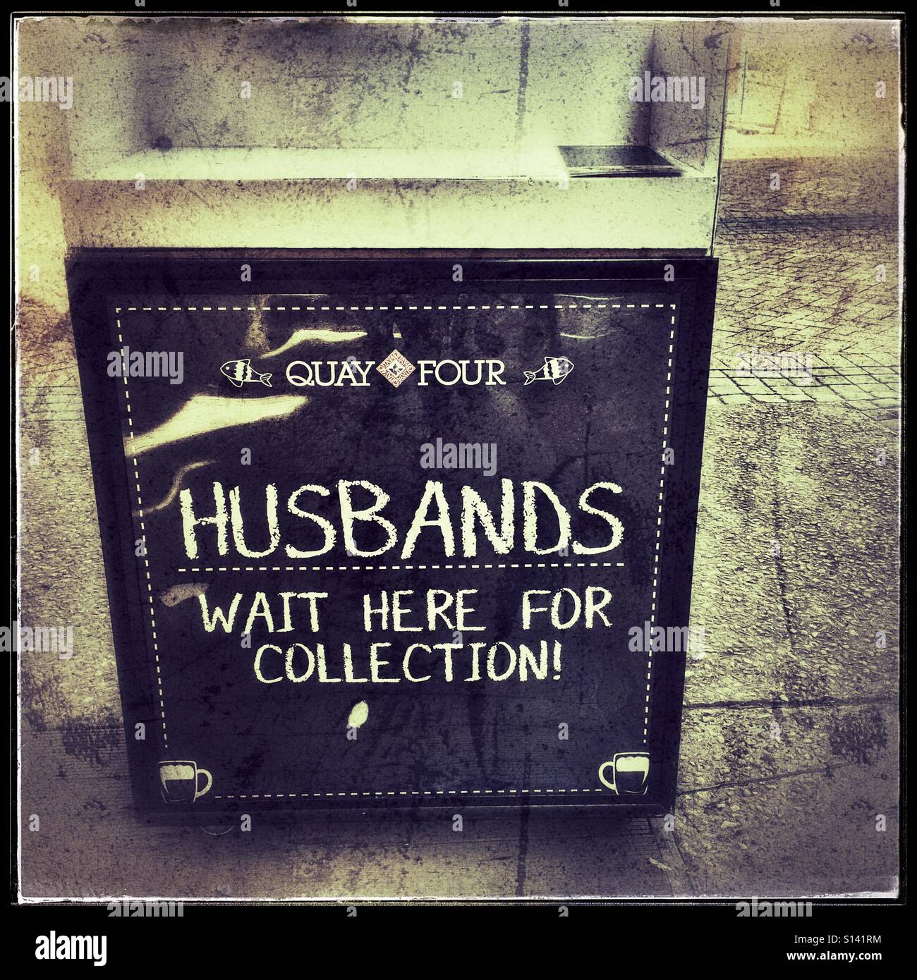 Funny sign at Waterfront, Cape Town, South Africa. - Stock Image
