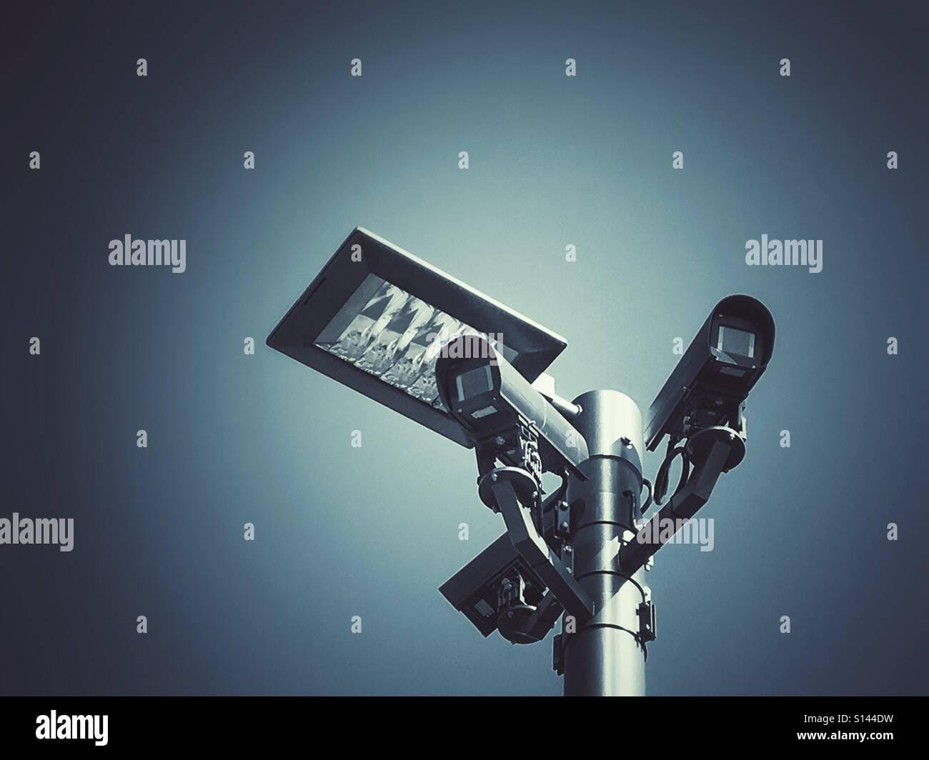 Surveillance cameras in Hamburg, Germany. - Stock Image