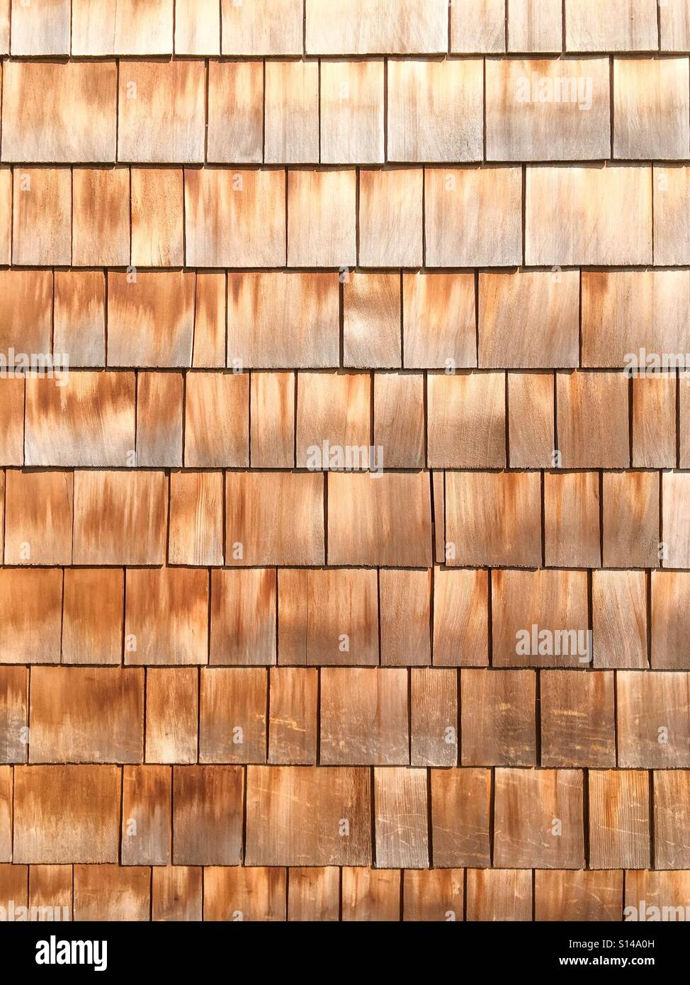Wooden wall drom planks. - Stock Image