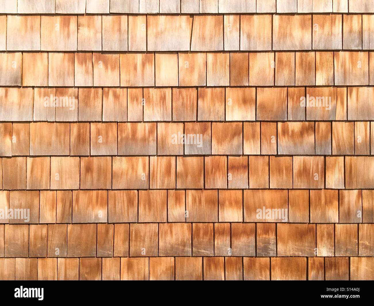 Wooden wall with planks. - Stock Image