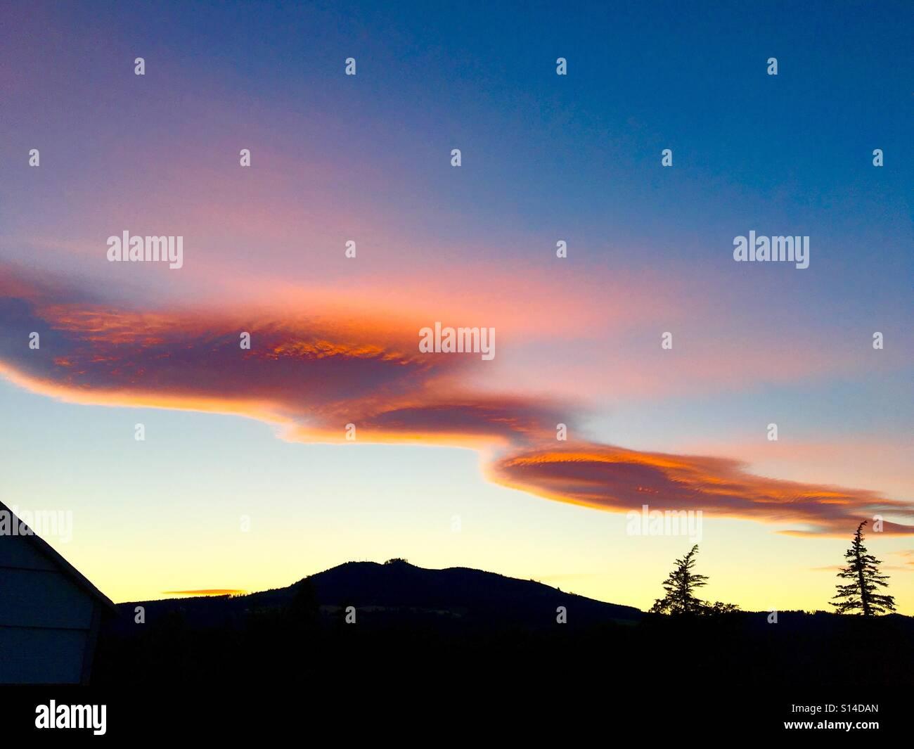 Crazy sky - Stock Image