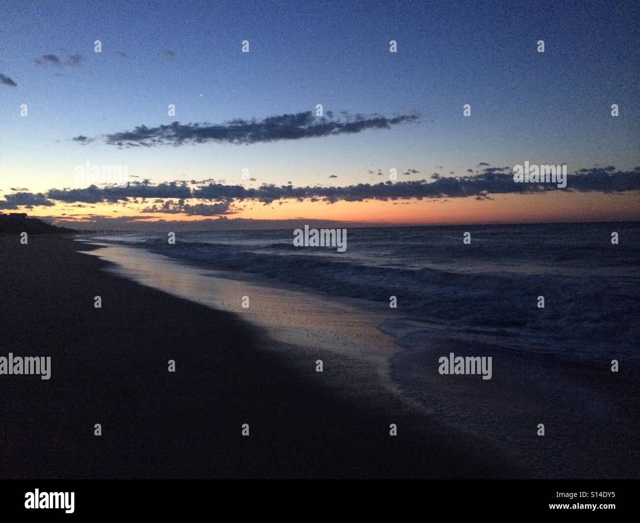 Montauk Sunset. - Stock Image