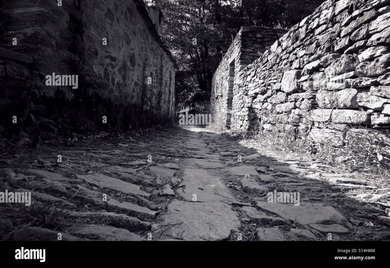Old path in the mountain. Stock Photo